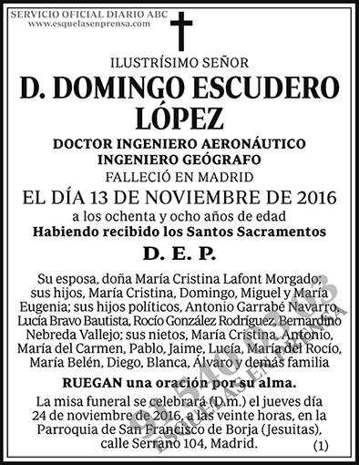 Domingo Escudero López
